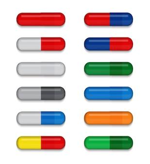 Ensemble de pilule médicale colorée