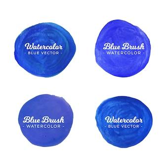 Ensemble de pinceau aquarelle bleue