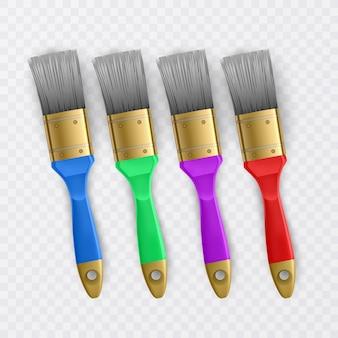 Ensemble de pinceaux de couleurs vives