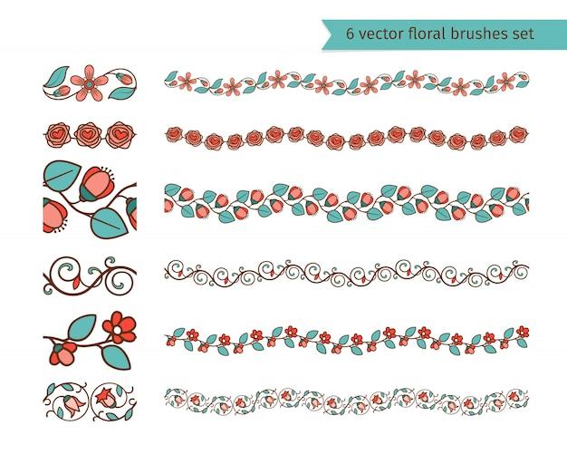 Ensemble de pinceaux floraux