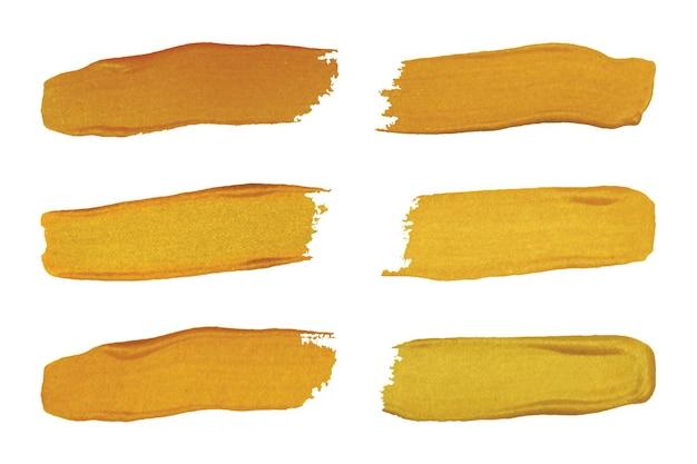 Ensemble de pinceaux en or