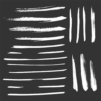 Ensemble de pinceaux strokes effet grunge