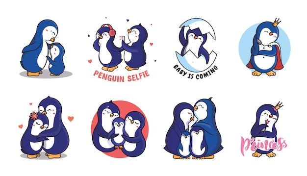 L'ensemble des pingouins de la famille.