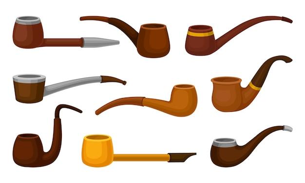 Ensemble de pipes à fumer de différentes formes
