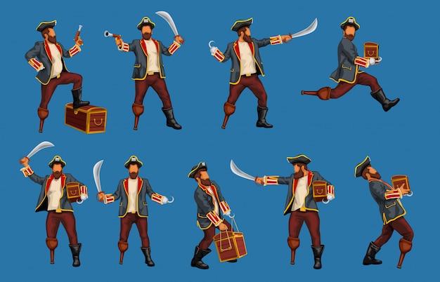 Ensemble pirate détaillé