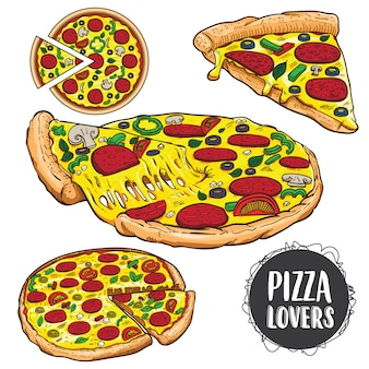 Ensemble de pizza