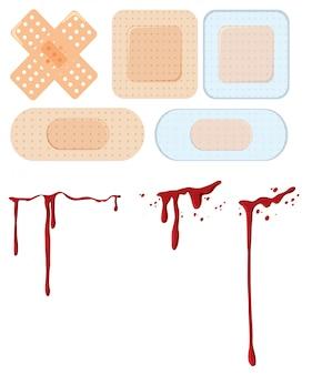 Un ensemble de plaies et de bandages