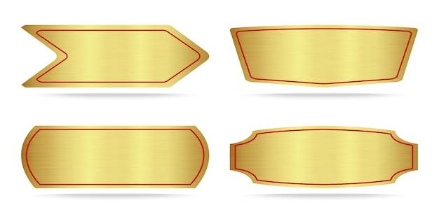 Ensemble de plaque signalétique en or métallisé