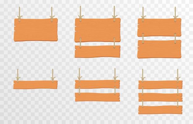 Ensemble de plaques de pointeurs en bois de dessin animé panneau en bois suspendu plaques de pointeurs en bois