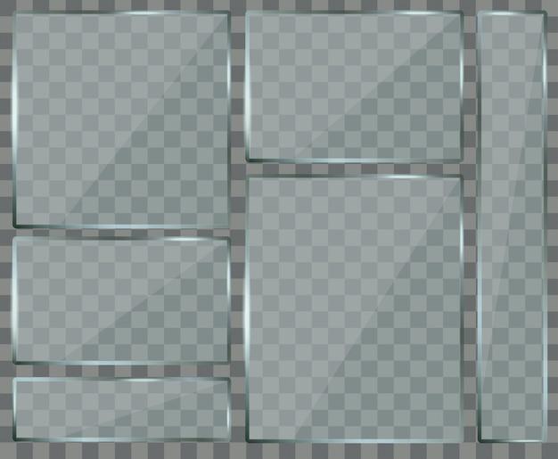 Ensemble de plaques de verre