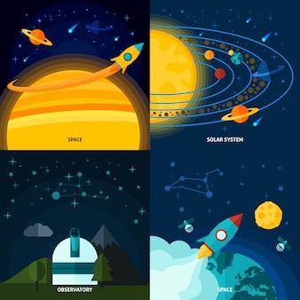 Ensemble plat espace et univers