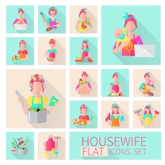 Ensemble de plat de femme au foyer