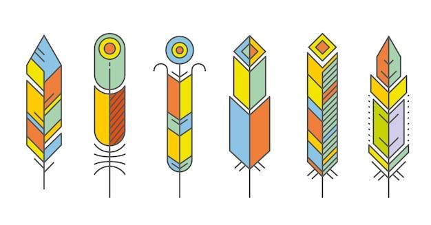 Ensemble de plumes abstraites