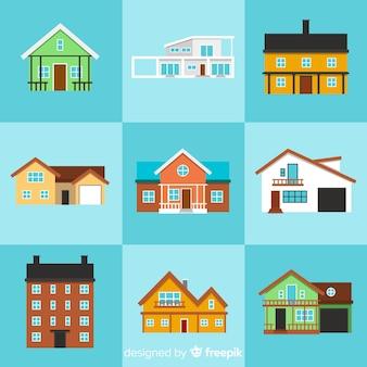 Ensemble de plusieurs maisons