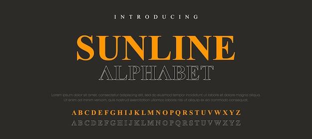 Ensemble de polices de lettres alphabet élégant
