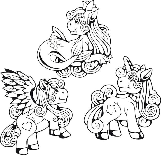Ensemble de poney