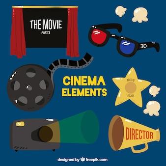 Ensemble de porte-voix et d'autres éléments de film