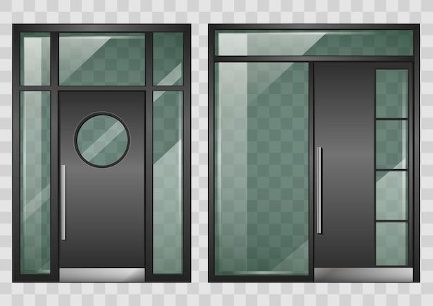 Ensemble de portes d'entrée modernes