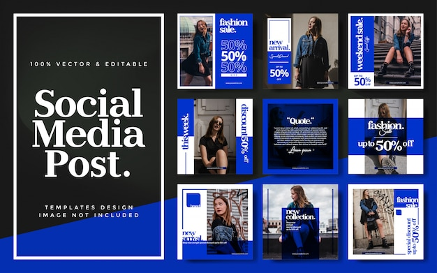 Ensemble de poste instagram vente mode abstraite