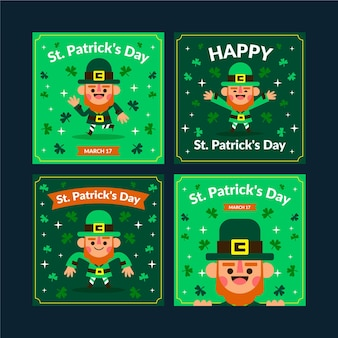 Ensemble de posts instagram de la saint-patrick