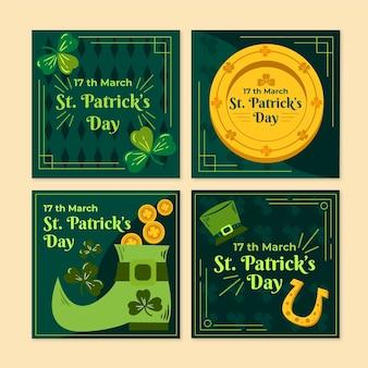 Ensemble de posts instagram de la saint-patrick