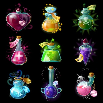 Ensemble de potions magiques