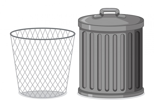 Ensemble de poubelle