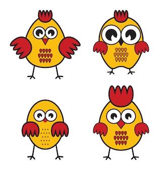 Ensemble de poulets