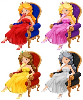 Ensemble de princesses