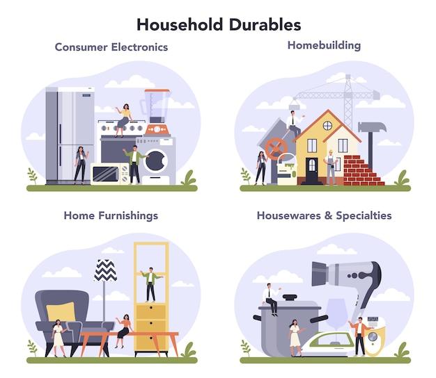 Ensemble de production de biens de consommation durables