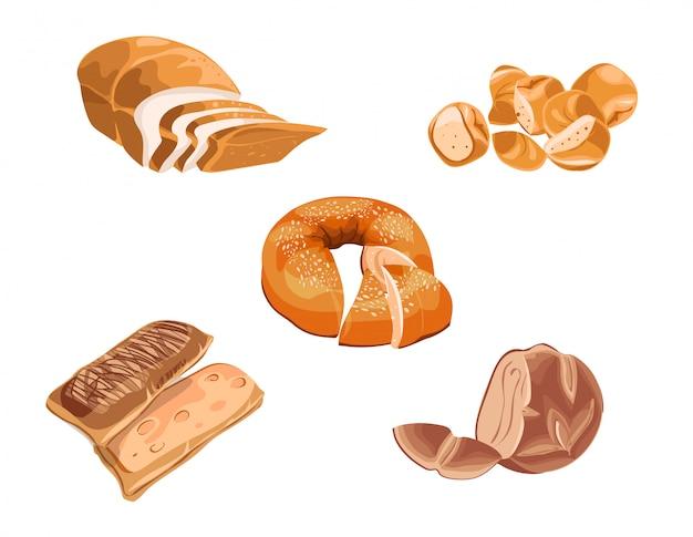 Ensemble de produits de boulangerie colorés