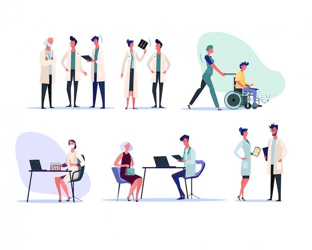Ensemble de professionnels de la santé
