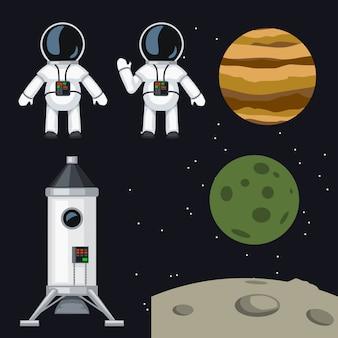 Ensemble de programme spatial