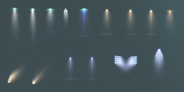 Ensemble de projecteurs isolé