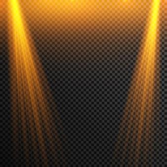 Ensemble de projecteurs lumineux réalistes