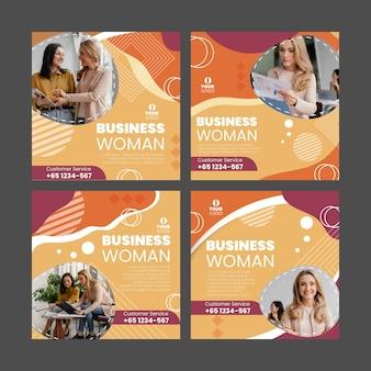 Ensemble de publications instagram de femme d & # 39; affaires