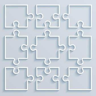 Ensemble de puzzle de pièces de papier. concept d'entreprise, modèle, mise en page, .infographie.