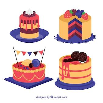 Ensemble de quatre gâteaux