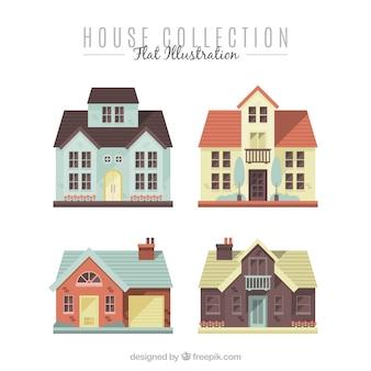 Ensemble de quatre grandes demeures