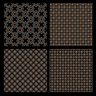 Ensemble de quatre modèles sans soudure géométriques - style celtique