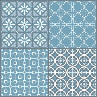 Ensemble de quatre motif géométrique sans soudure