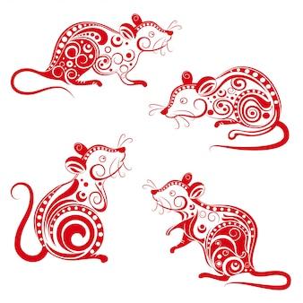 Ensemble de rat ornemental