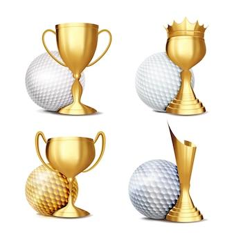 Ensemble de récompense de jeu de golf