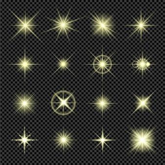 Ensemble de reflets lumineux