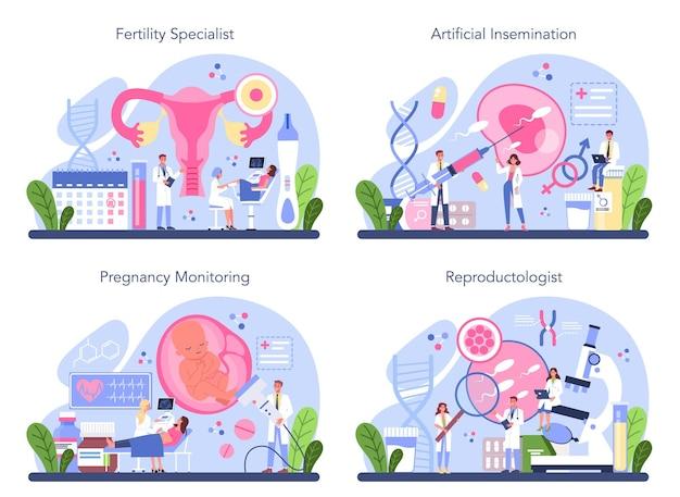 Ensemble De Reproduction Et De Santé Reproductive. Vecteur Premium