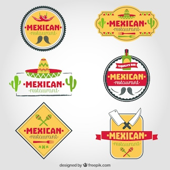 Ensemble de restaurants mexicains logos