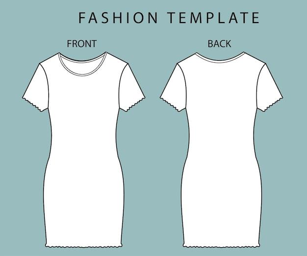 Ensemble robe vue avant et arrière