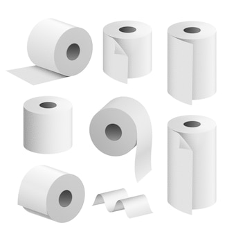 Ensemble de rouleaux de papier toilette