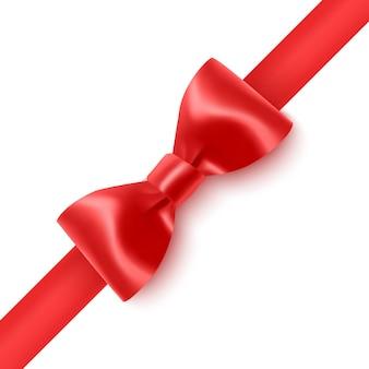 Ensemble de ruban d'arcs rouges réalistes isolé sur fond blanc