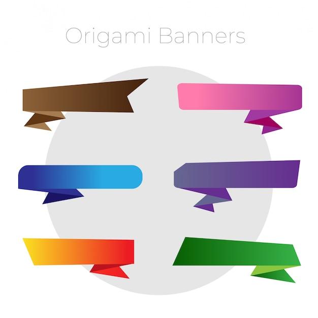 Ensemble de ruban couleur origami